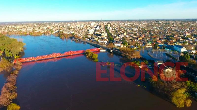 Creciente e inundaciones en Gualeguaychú: Imágenes desde el drone de Elonce