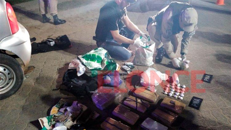 Gran cantidad de droga secuestrada por Prefectura: era transportada en un auto