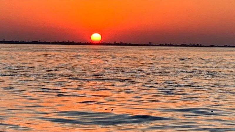 Así se verá el Sol desde el muelle de Bajada Grande