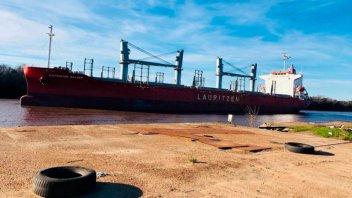 Amarró un nuevo barco que cargará madera con destino a China