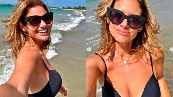 Alessandra Rampolla mostró fotos suyas en la playa y la llenaron de halagos