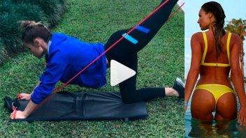Pampita mostró su rutina de ejercicios para endurecer la cola