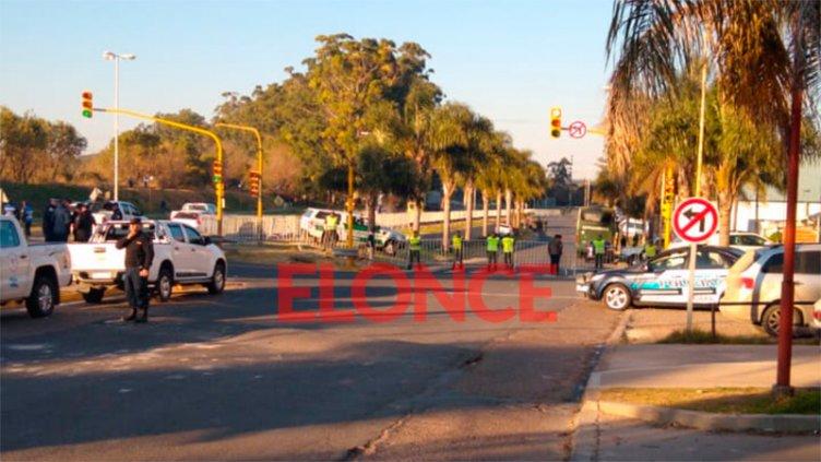 Fuerte operativo de seguridad para recibir al presidente Macri en Oro Verde