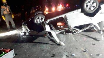 Fotos y video: Impresionante choque frontal en la ruta entre Crespo y Racedo