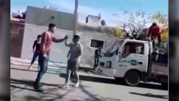 Video: Un garrafero resistió robo