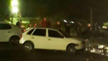 Múltiple choque en cadena: uno de los conductores habría estado alcoholizado