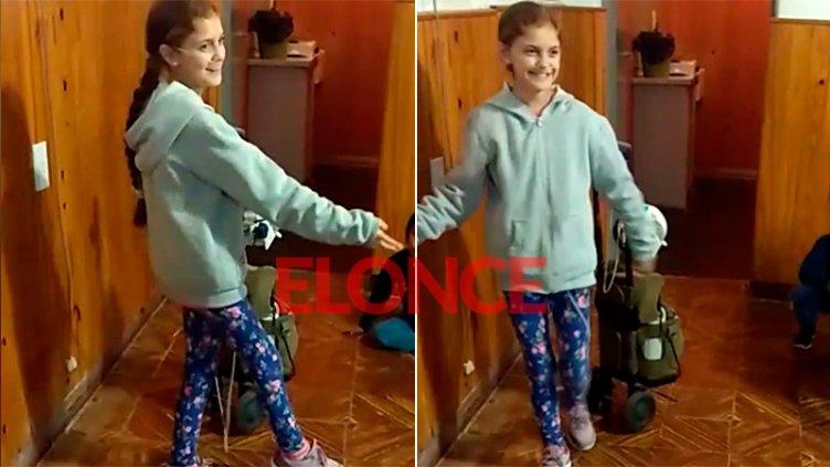 Video: La alegría de Milagros mientras disfruta de su gran pasión por la danza