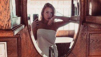Romanela Amato se alojó en un exclusivo hotel y derrochó sensualidad