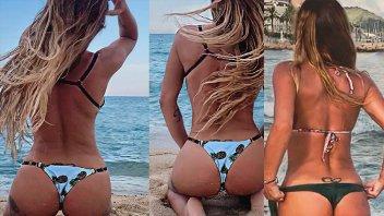 Mónica Ayos volvió a deslumbrar con sus fotos en bikini