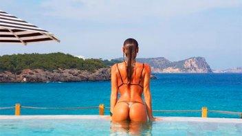 Pampita reveló sus secretos para posar en bikini