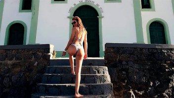 Las vacaciones de Celina Rucci: Relax,  buceo y amor