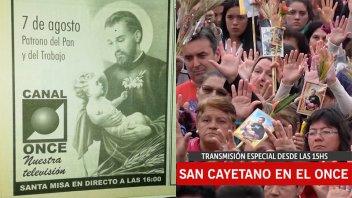 Hace más de 20 años Elonce TV transmite la procesión y misa por San Cayetano