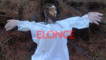 El Cristo que partió con globos fue hallado 80 días después y a 260 kilómetros