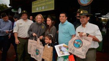 El Parque Nacional Iguazú recibió a su visitante un millón de la temporada
