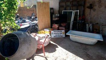 Hallaron elementos robados tras allanamientos por tiroteos en barrio 4 de Junio