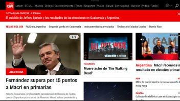 Paso: Cómo reflejaron los medios del mundo la victoria de Alberto Fernández