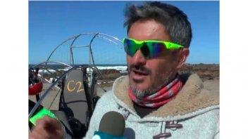 Buscan en Uruguay a un instructor de parapente que cayó al mar en pleno vuelo