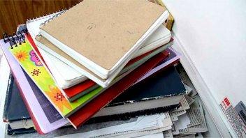 Reciclarán cuadernos para donarlos a una escuela de Concordia