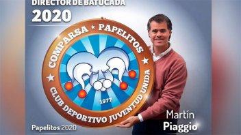El intendente de Gualeguaychú será director de batucada de Papelitos