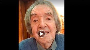 Carlitos Balá festejó 94 años y mostró toda su vitalidad en un video
