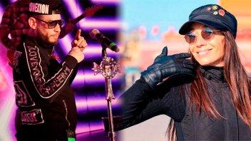 Ulises Bueno y Mora Godoy tuvieron un encuentro en el camarín del cantante