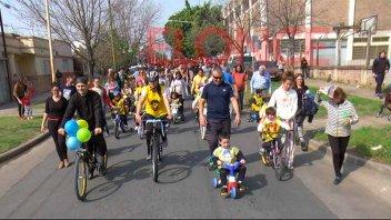 Con una bicicleteada, festejaron los 204 años de San Juan Bosco