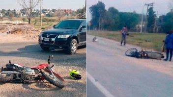 Paraná: Tres motociclistas sufrieron heridas tras choque en sendos accidentes