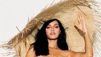 Oriana Sabatini compartió una jugada imagen en topless