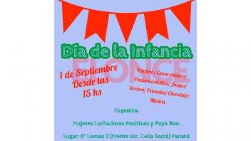 Se realizará la 5º Fiesta del Día del Niño en barrio Lomas del Mirador