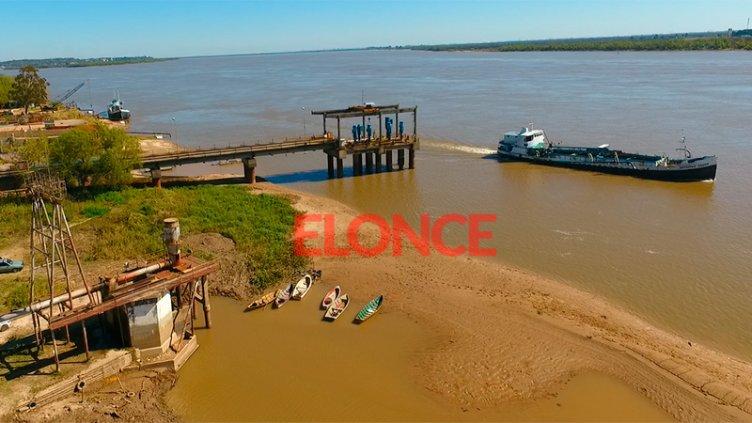 Video desde el drone: La bajante del río Paraná en la zona de la toma de agua