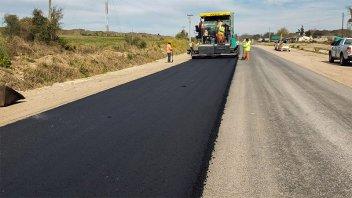 La obra de pavimentación desde Oro Verde a Tezanos Pinto está en su etapa final