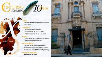 Abrió el concurso Literario Biblioteca Popular del Paraná Edición 2019