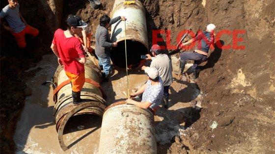 Reparan importante conducto y el suministro de agua se normalizaría a las 22