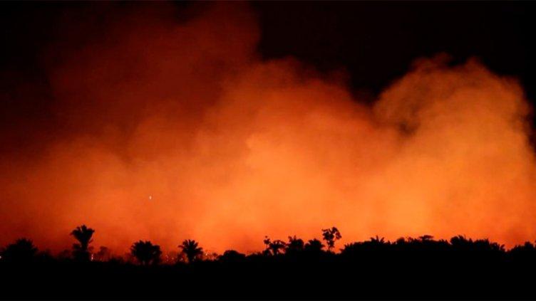 Video muestra en tiempo real el avance de  devastadores incendios en la Amazonia