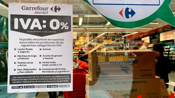 Los productos que bajaron de precio en supermercados tras eliminación del IVA