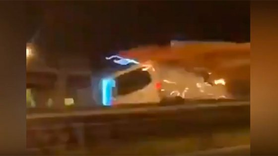 Iba a contramano, se estrelló con un camión y murió: El choque quedó filmado