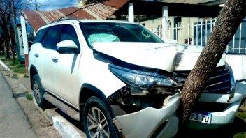 Hijo de diputada entrerriana derribó la garita de un hospital con su camioneta