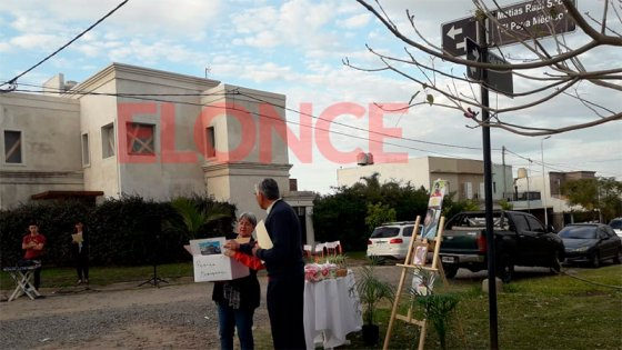Inauguraron la calle que homenajea a Matías Raúl Scotti