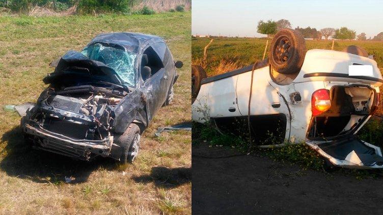 Dos docentes protagonizaron sendos accidentes de tránsito