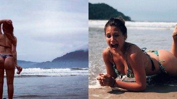 Barbie y Nazarena Vélez mostraron sus curvas en las playas de Brasil