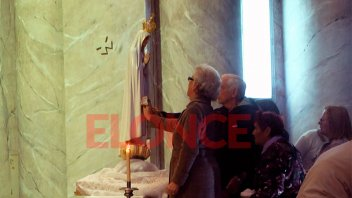 La imagen peregrina de la Virgen de Fátima ya partió hacia su nuevo destino