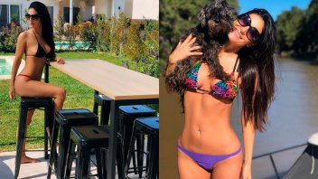 Morocha mostró su primer día en bikini de esta temporada