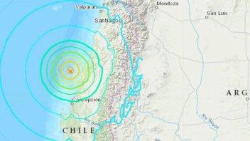 Sismo de magnitud 6,8 sacude centro y sur de Chile sin dejar víctimas