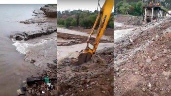 Video: Abrieron nuevo canal para extraer agua cruda en Toma Nueva