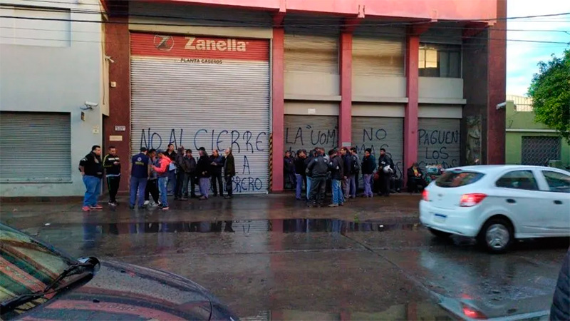 Tras cerrar dos fábricas, Zanella despidió a los 70 trabajadores de otra planta