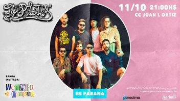 Lo´ Pibitos tocan este viernes en Paraná junto a bandas locales