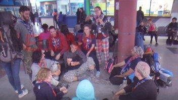 Jóvenes que participaron del encuentro scout