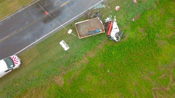 Choque frontal de camiones se cobró una vida en el ingreso a ciudad santafesina