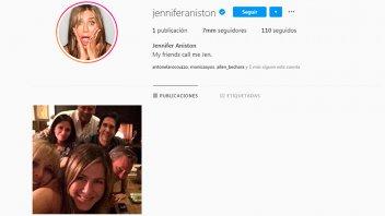 Jennifer Aniston abrió una cuenta de Instagram y batió récords