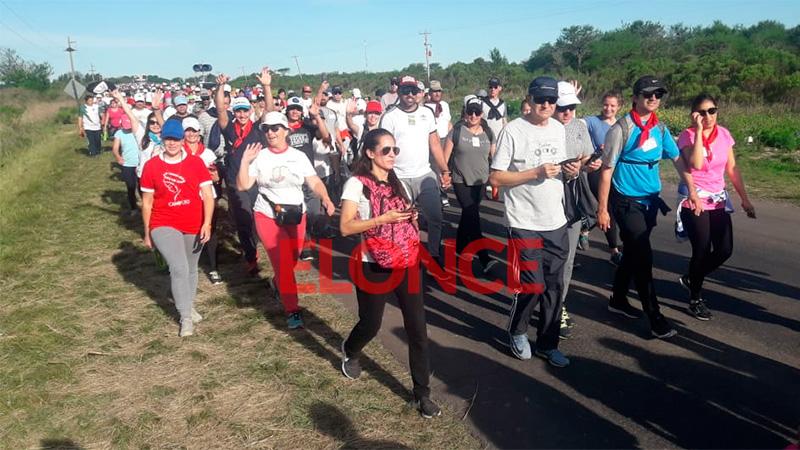 Peregrinación de los Pueblos: Con Fe y alegría se inició la marcha de los fieles
